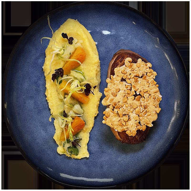 Filet de canette au nougat de Montelimar polenta Restaurant Rotisserie Ardennaise Chef a domicile Luxembourg copie