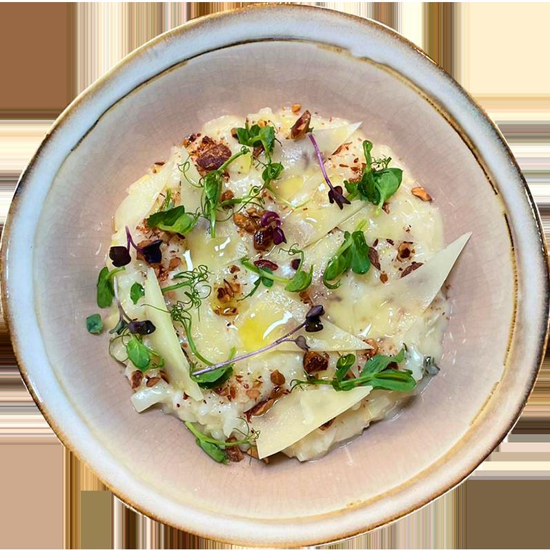 Risotto de celeri pecorino Restaurant Rotisserie Ardennaise Chef a domicile Luxembourg